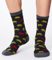 Chaussettes bambou homme motif dinosaure