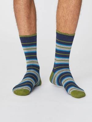 Chaussettes bambou homme à rayures
