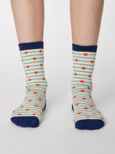 Chaussettes bambou rayures et pois