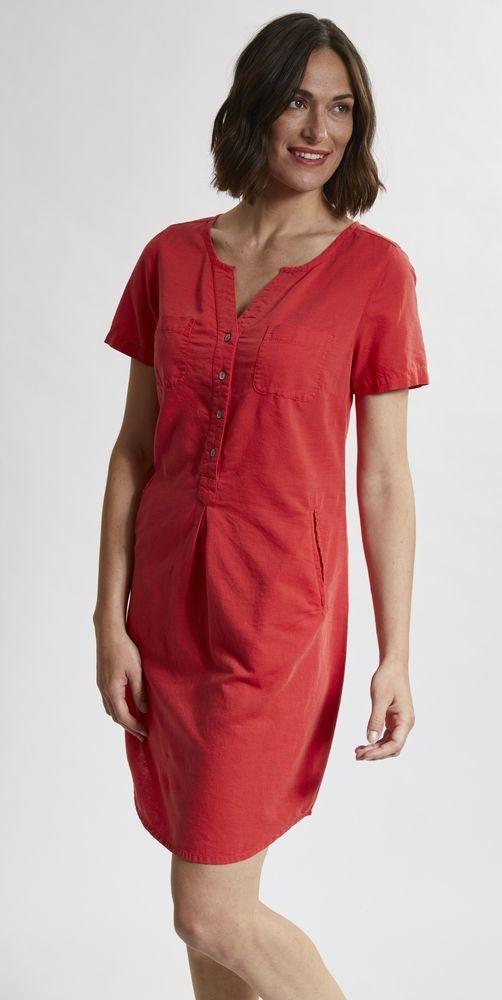 Robe d été rouge en lin et coton bio - Mode écoresponsable Madness 1d7d037d7289