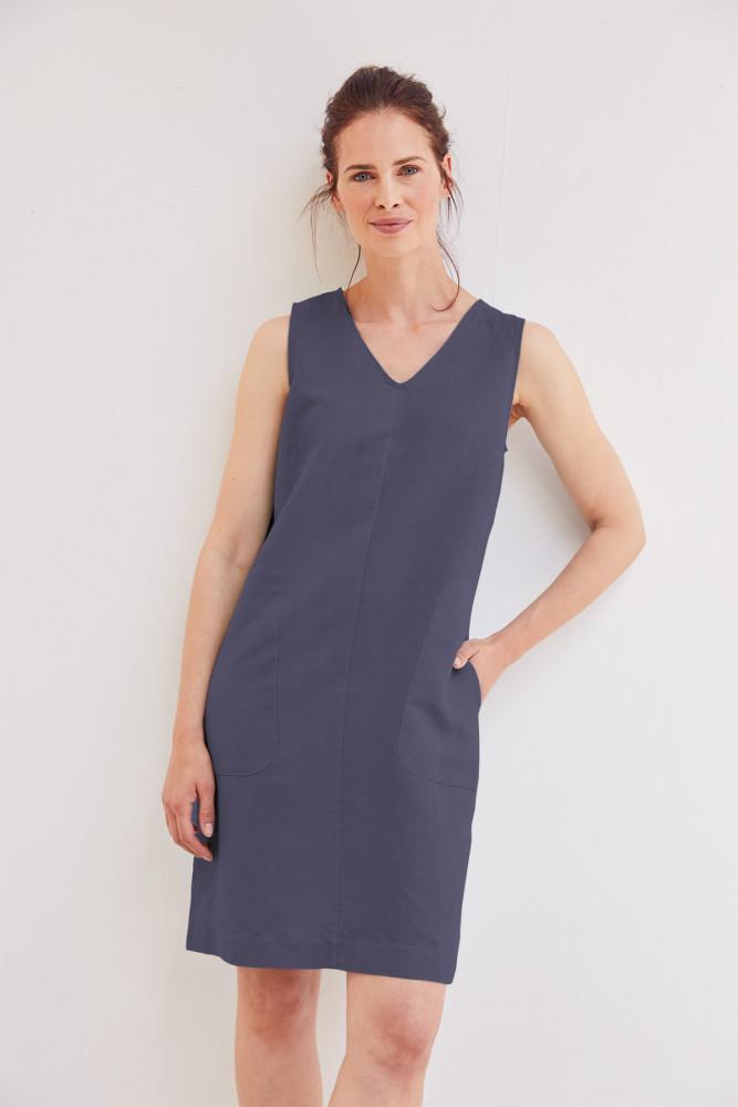 Robe D Ete En Lin Et Coton Bio Couleur Bleu Marine