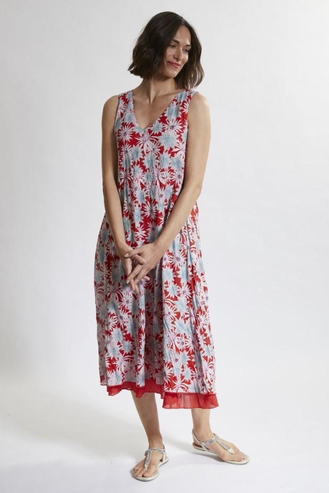 958191b6a10 Robe longue été en coton bio à fleurs