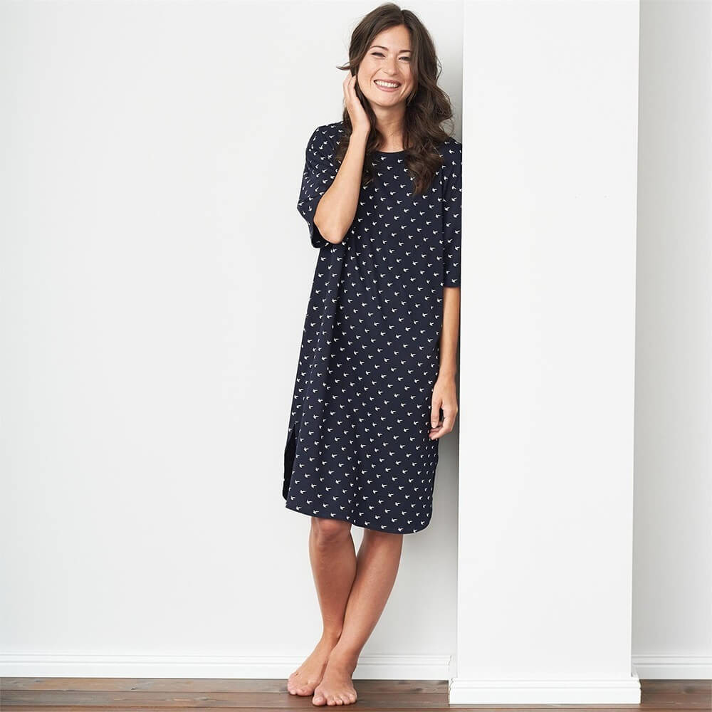 chemise de nuit coton bio femme commerce quitable. Black Bedroom Furniture Sets. Home Design Ideas