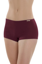 Shorty pur coton bio rouge bourgogne