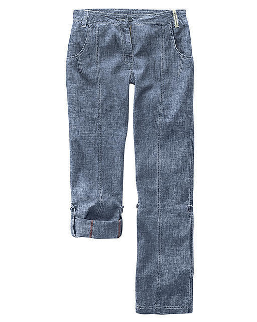 Pantalon, femme, couleur indigo mélange, confortable, chanvre et coton bio,  Hempage 7068e1b0cd3f