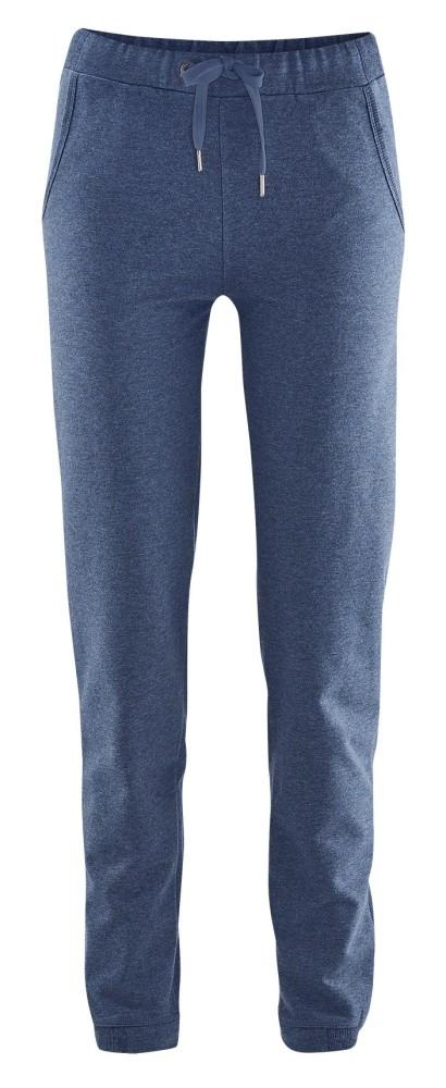 Pantalon de jogging femme en molleton de coton bio. Deux poches italiennes,  bords côtes1 596b166c3a52
