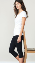 Leggings coton bio 3/4 noir