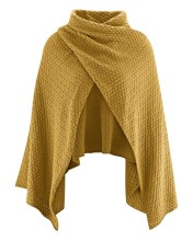 Poncho moutarde pour femme