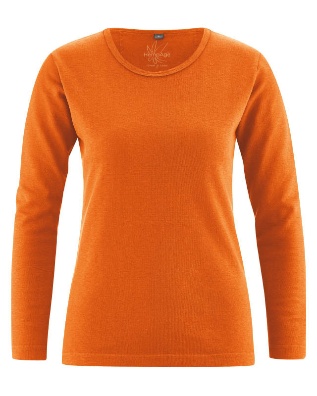 2330e44540c T-shirt chanvre coton bio femme couleur orange potiron