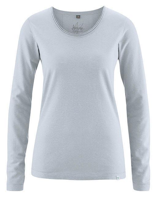 dbcc4fa5686e7 T-shirt gris platine en chanvre et coton bio pour femme