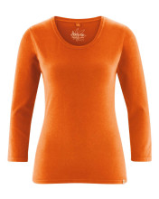 T-shirt chanvre basique femme couleur orange potiron