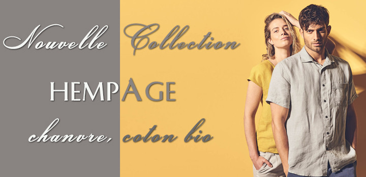 Nouvelle collection bio Hempage