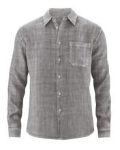 Chemise chanvre homme couleur taupe