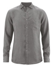 Chemise homme pur chanvre couleur taupe
