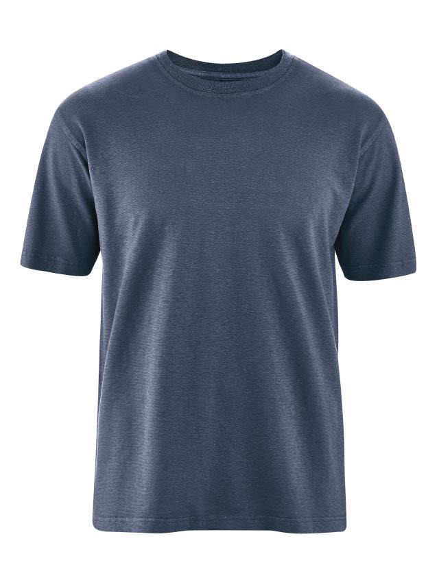 d742181b6ea20 T-shirt classique homme chanvre coton bio couleur bleu ciel d hiver