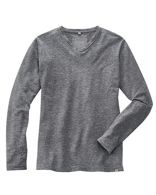 Chaussures 2018 style exquis produits de commodité T-shirt homme col V et manches longues
