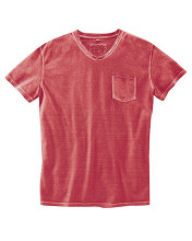 T-shirt chanvre coton bio hempage couleur rouge chili