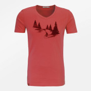 T-shirt slim coton bio rouge