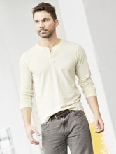 T-shirt chanvre coton bio homme couleur naturel
